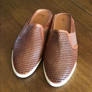 Frye Melanie Leather Mules- great condition!